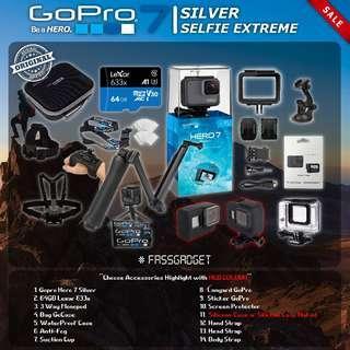 Gopro Hero7 Silver ( Ready Stock ) - 1 Years Warranty - GoPro Hero 7 Silver / GOPRO HERO 7 SILVER