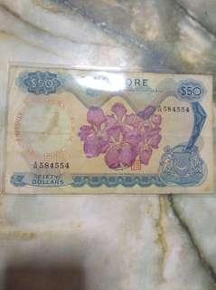 (90)Orchids series old notes$50
