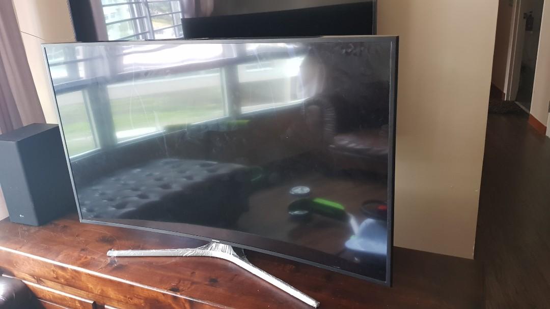 55 inch samsung curve tv crack