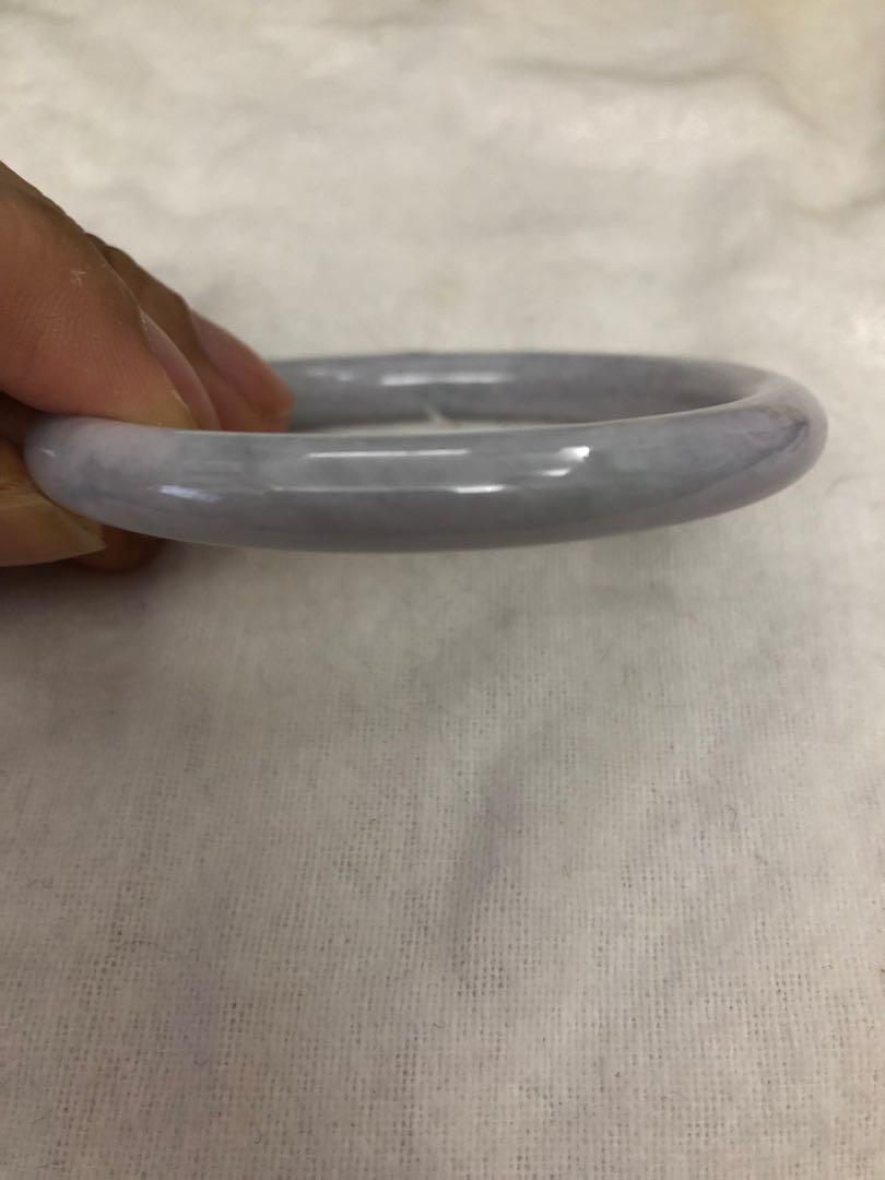 翡翠5.5mm淡紫色A玉手鐲
