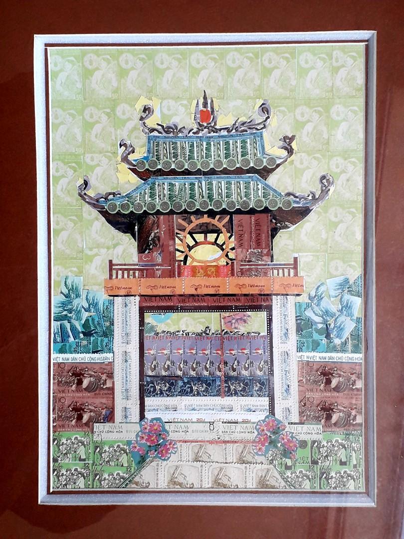 越南郵政 - 郵票畫 ( 已裝裱 )