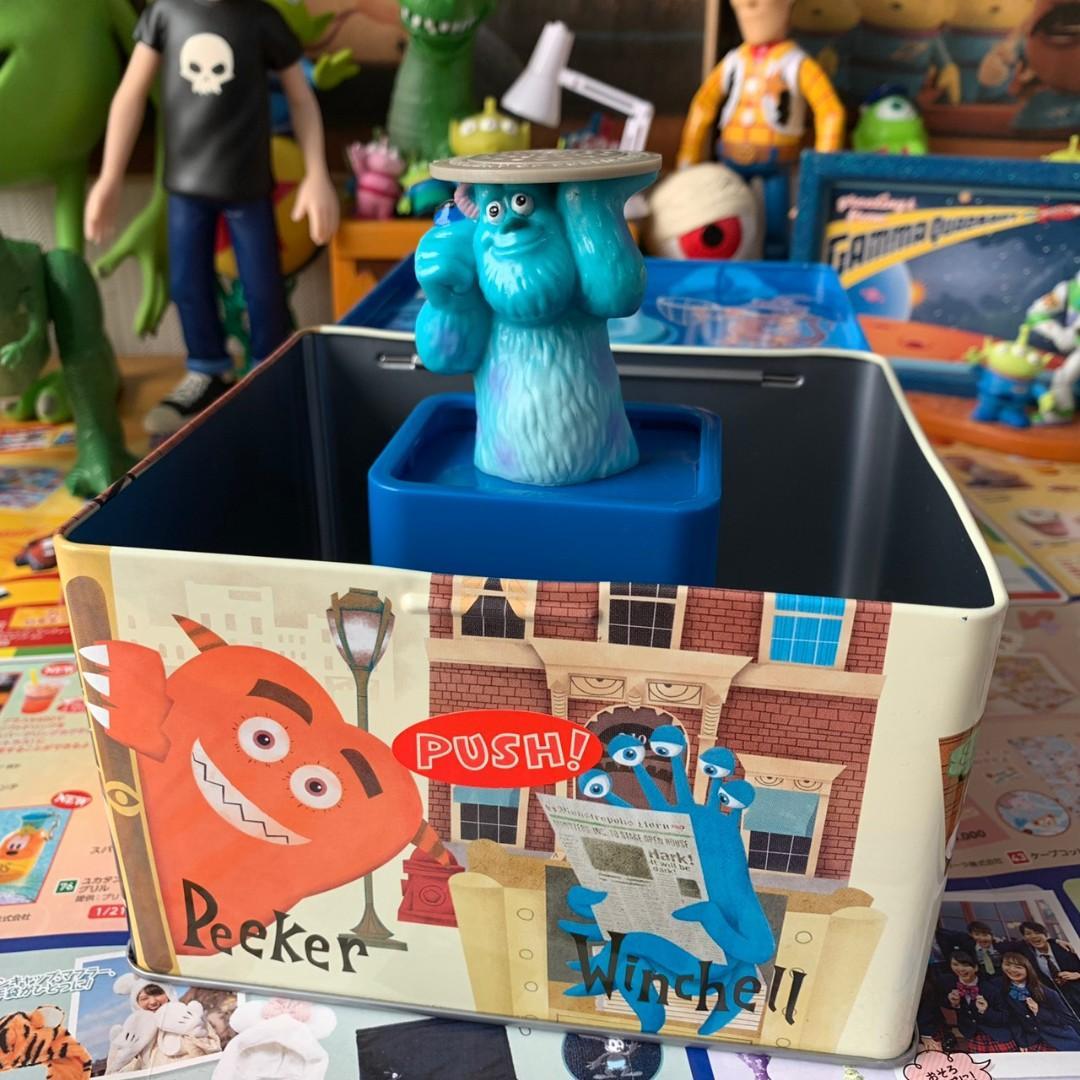 怪獸電力公司 毛怪 彈跳 驚喜盒 怪獸大學 monsters 皮克斯 迪士尼 躲貓貓 阿布 大眼仔 藍道 擺飾