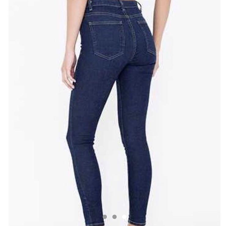american apparel high waisted pencil jean