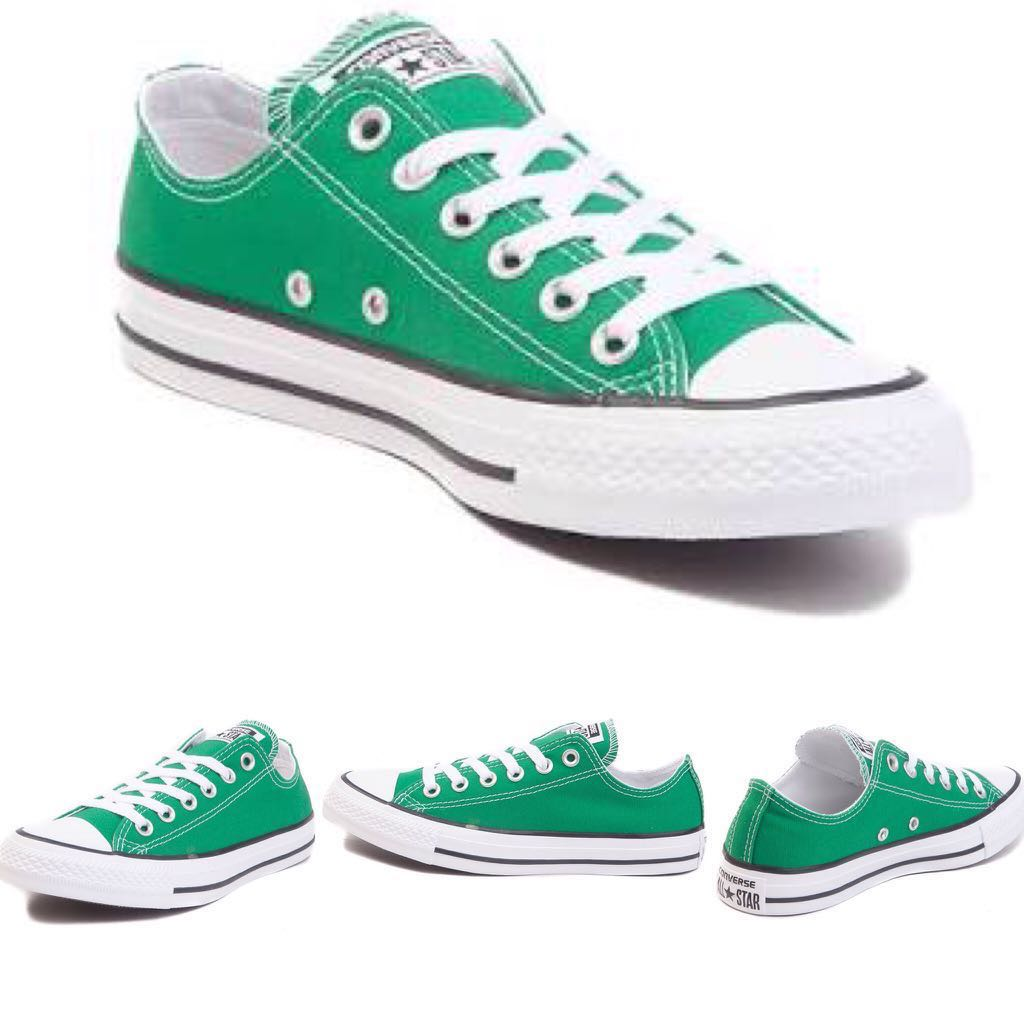 009f7b9f8fc2 Authentic Converse Chuck Taylor Low Top Green Sneakers