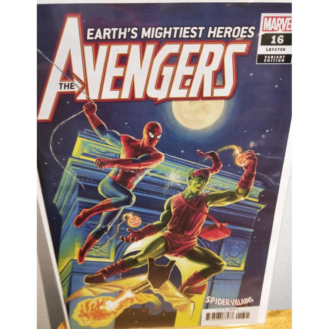 Avengers # 16 Villains Variant Cover NM