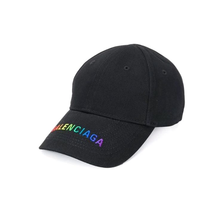 725df90c23822 Balenciaga Rainbow Embroidered Cap