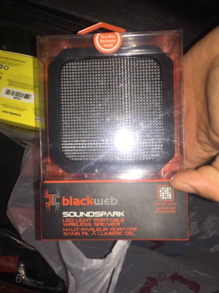 blackweb Soundspark LED Light Portable Wireless Speaker