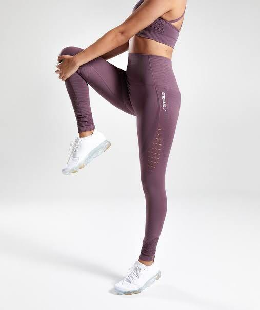 BNWT GYMSHARK high waisted seamless legging- purple wash