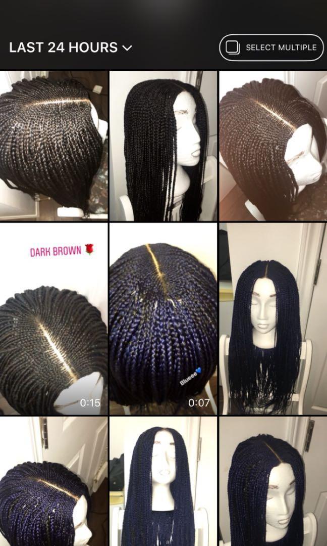 Braided wig hair