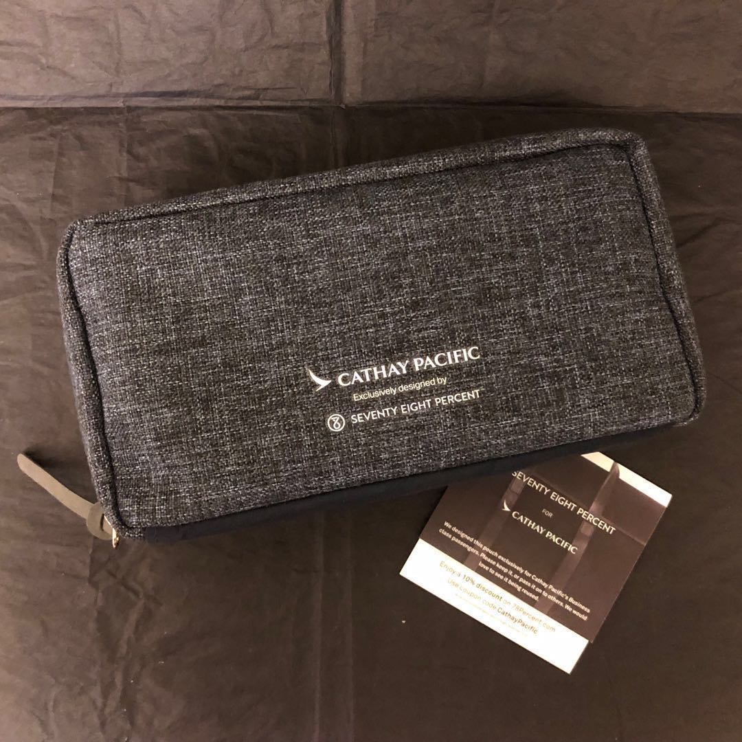 Transportation Collectables Unopened Business Class Cathay Pacific Seventy Eight Percent Amenity Bag Collectables