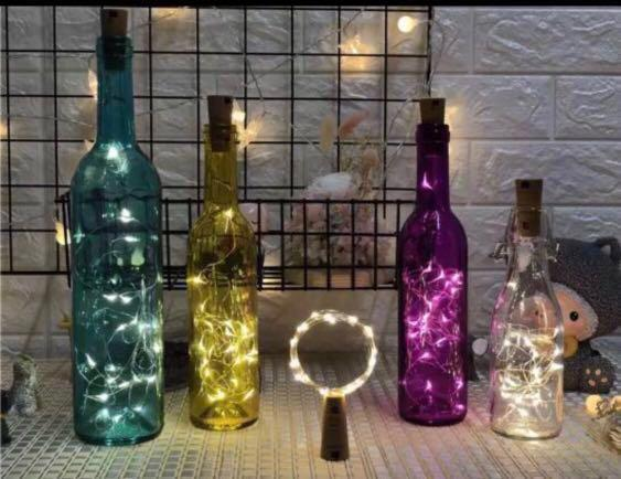 Cheapest in Carousell ‼️Cork Shaped Fairy Lights 2m 20LED Warm Light