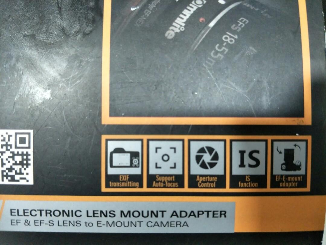 Commlite CM-EF-NEX EF/EF-S Cannon lens to E-mount SONY NEX series camera body