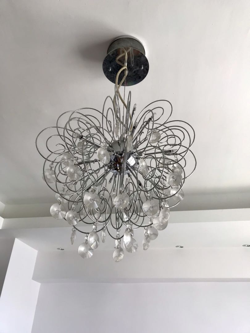 Crystal chandelier ceiling light