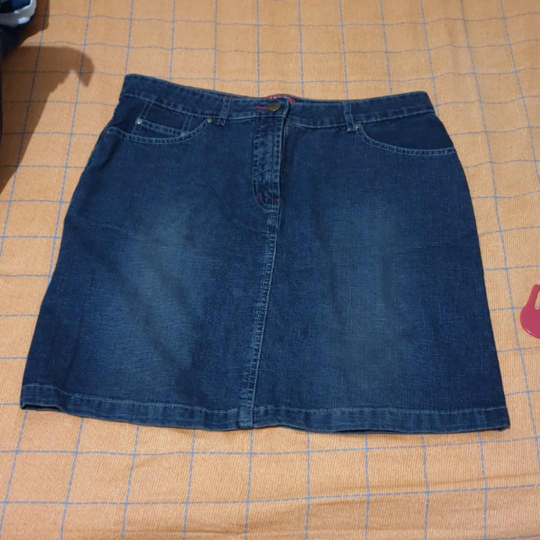 Graphics Denim Skirt