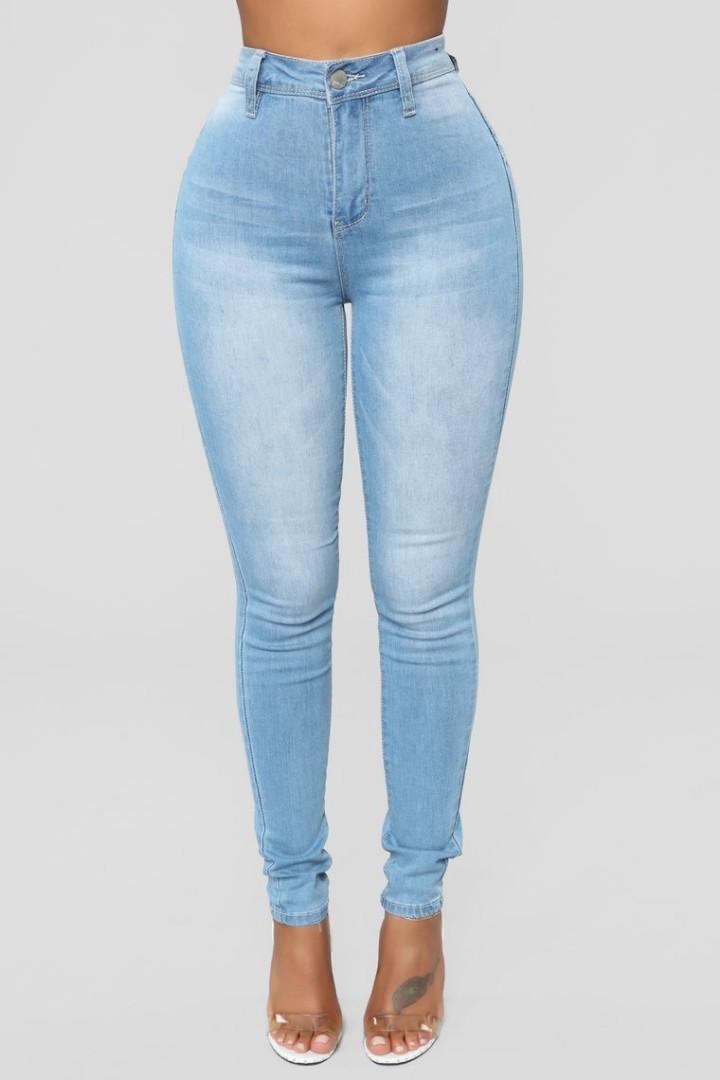 cb01a816883 Fashionnova Skinny Jeans - Light Blue Wash, Women's Fashion, Clothes ...