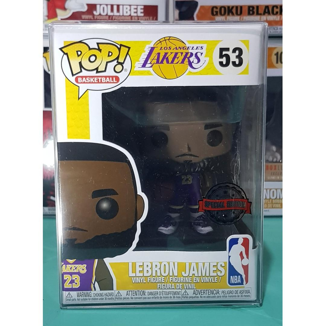 save off a662c b8b02 FUNKO Lebron James Lakers Purple Jersey on Carousell