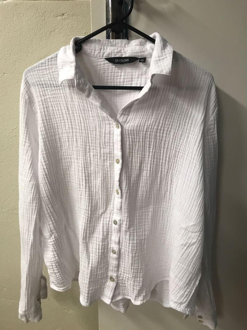 Glasson's women's linen button-up