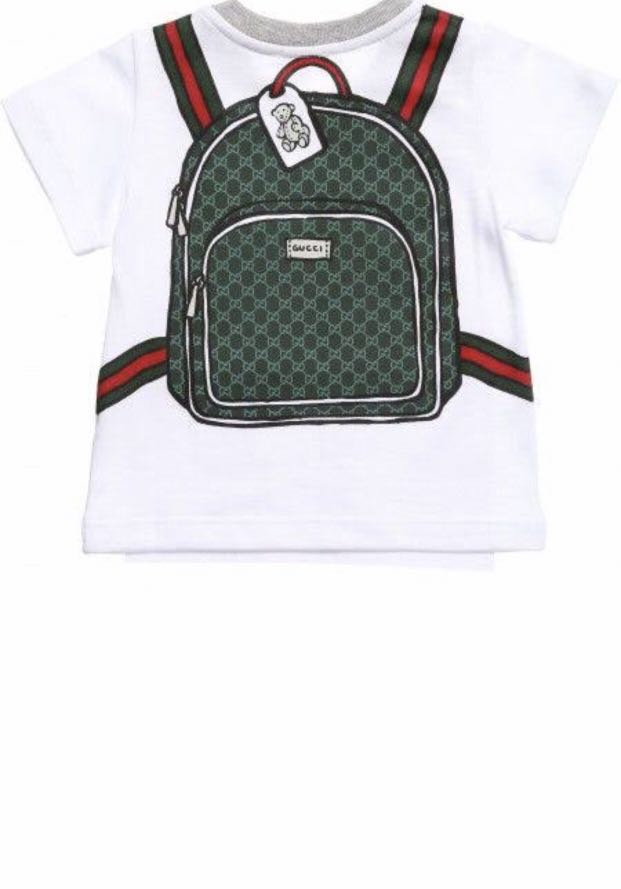 d6f48eb7110a Gucci Baby T-shirt backpack print, Babies & Kids, Babies Apparel on ...