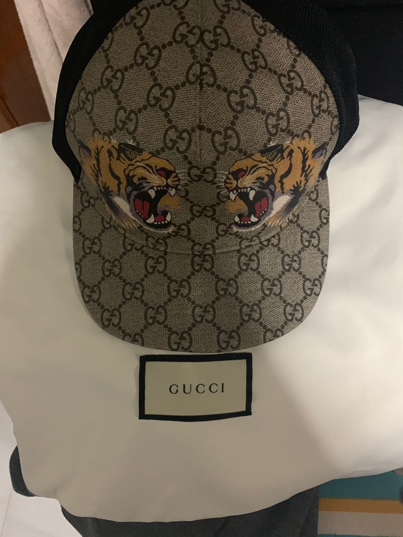 bc3ad8844b7d4 Gucci cap tigers print