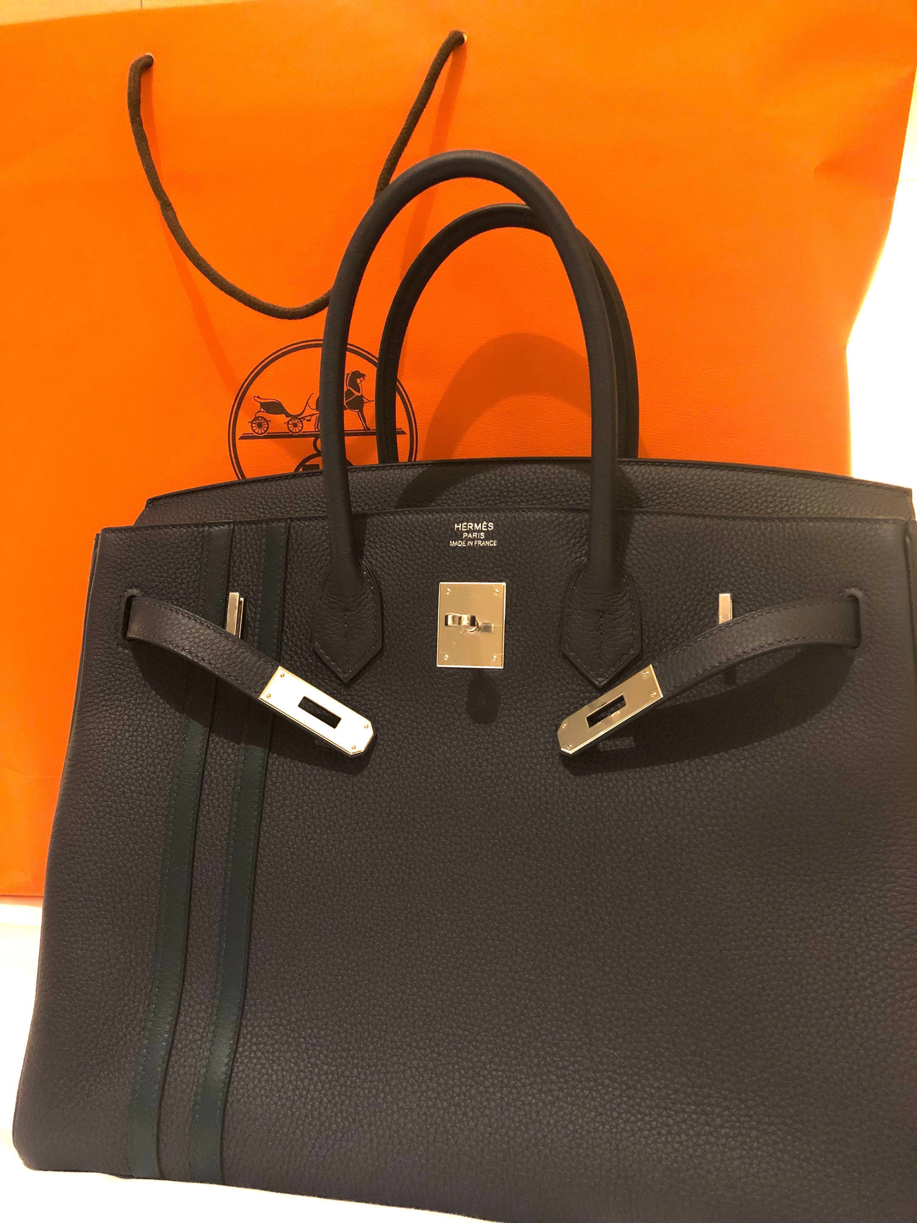 b2ed640883c555 Hermes birkin 35 limited edition stripe just bought, Luxury, Bags &  Wallets, Handbags on Carousell