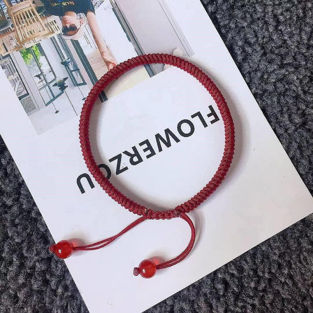 King Kong knot transshipment hand rope national wind black red hand-woven bracelet pig's birthday male and female couple hand rope jewelry Gift