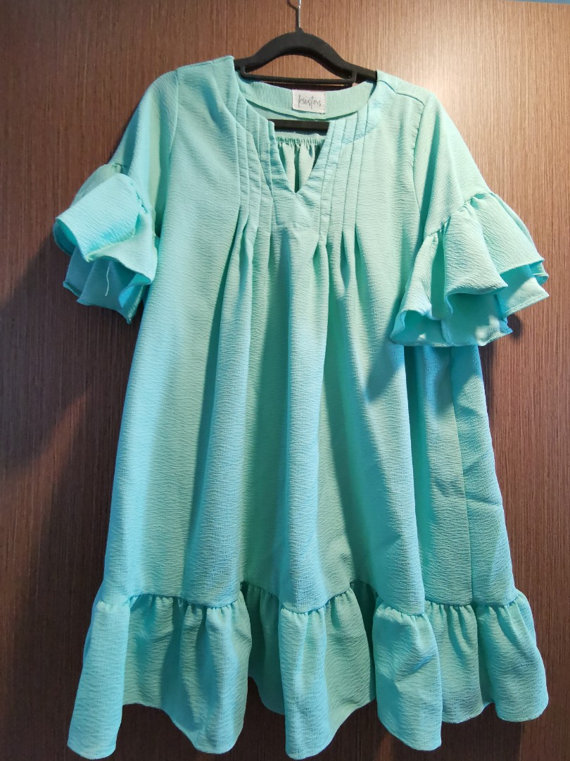 248cd870558 Ksisters korean tunic dress in mint, Women's Fashion, Clothes ...