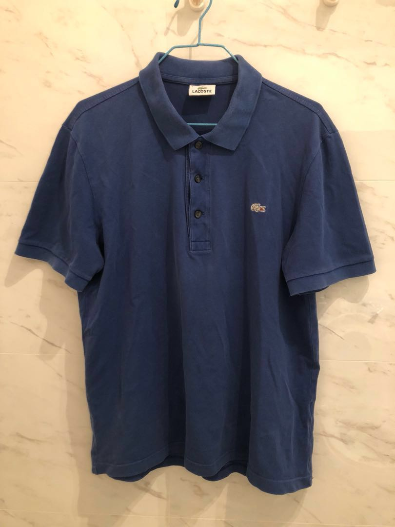 ae32a1fc Lacoste Polo Shirt (Authentic) - Blue, Men's Fashion, Clothes, Tops ...
