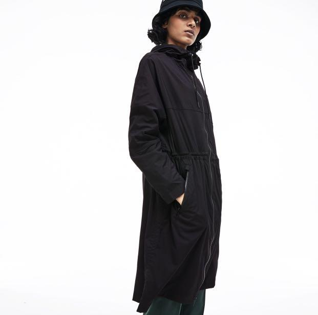 Lacoste Women's Hooded Water-Resistant Canvas Parka