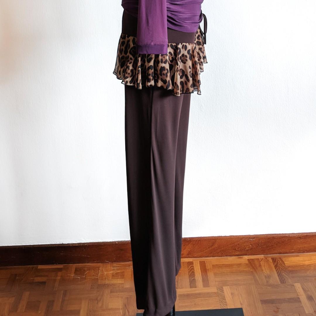 Latin / Ballroom Dance Pants - Leopard