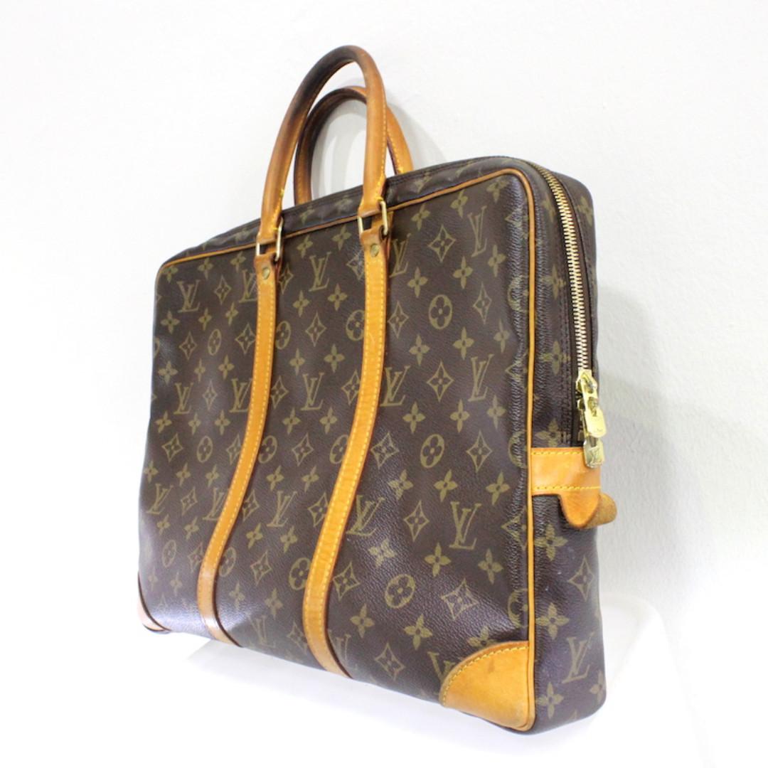 6a19d4f79a1a Louis Vuitton Monogram Porte Documents Voyage Briefcase