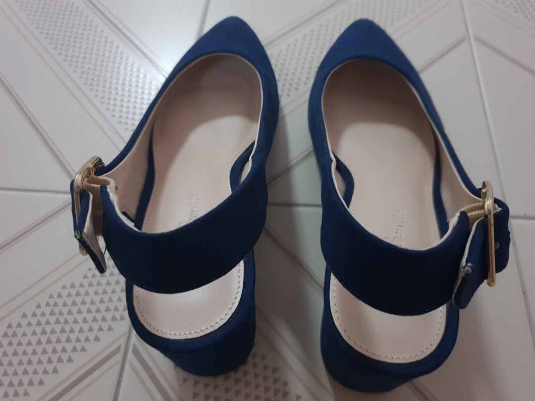 b0a12676b0d Lovebonito blue pointed slingback pumps
