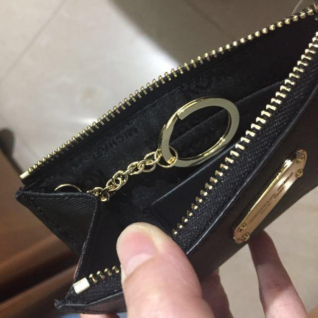 Michael Kors 黑色輕便銀包仔連鎖匙扣