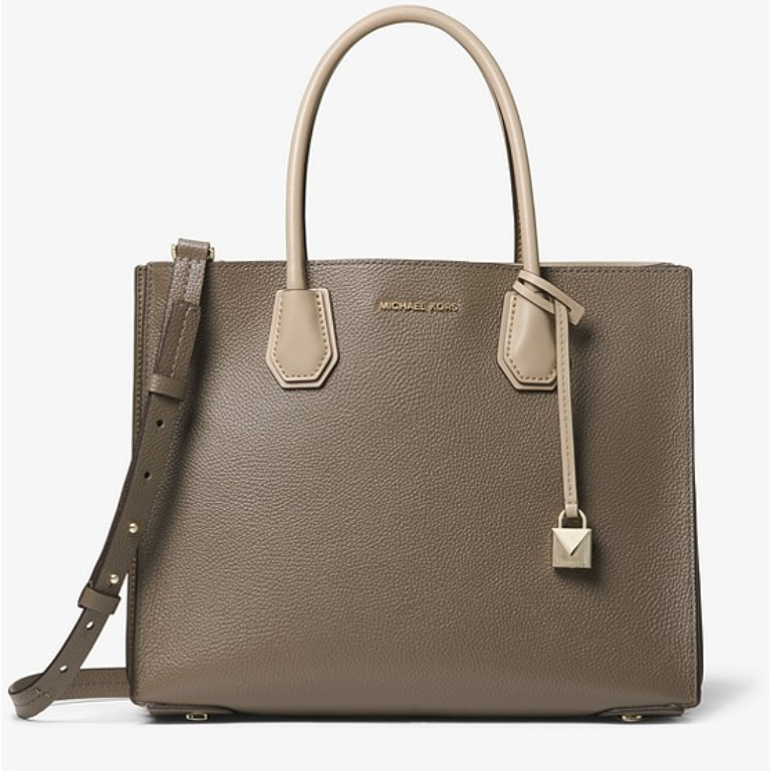 a8d258a6ce76 MICHAEL KORS Mercer Large Pebbled Leather Accordion Tote, Women's ...