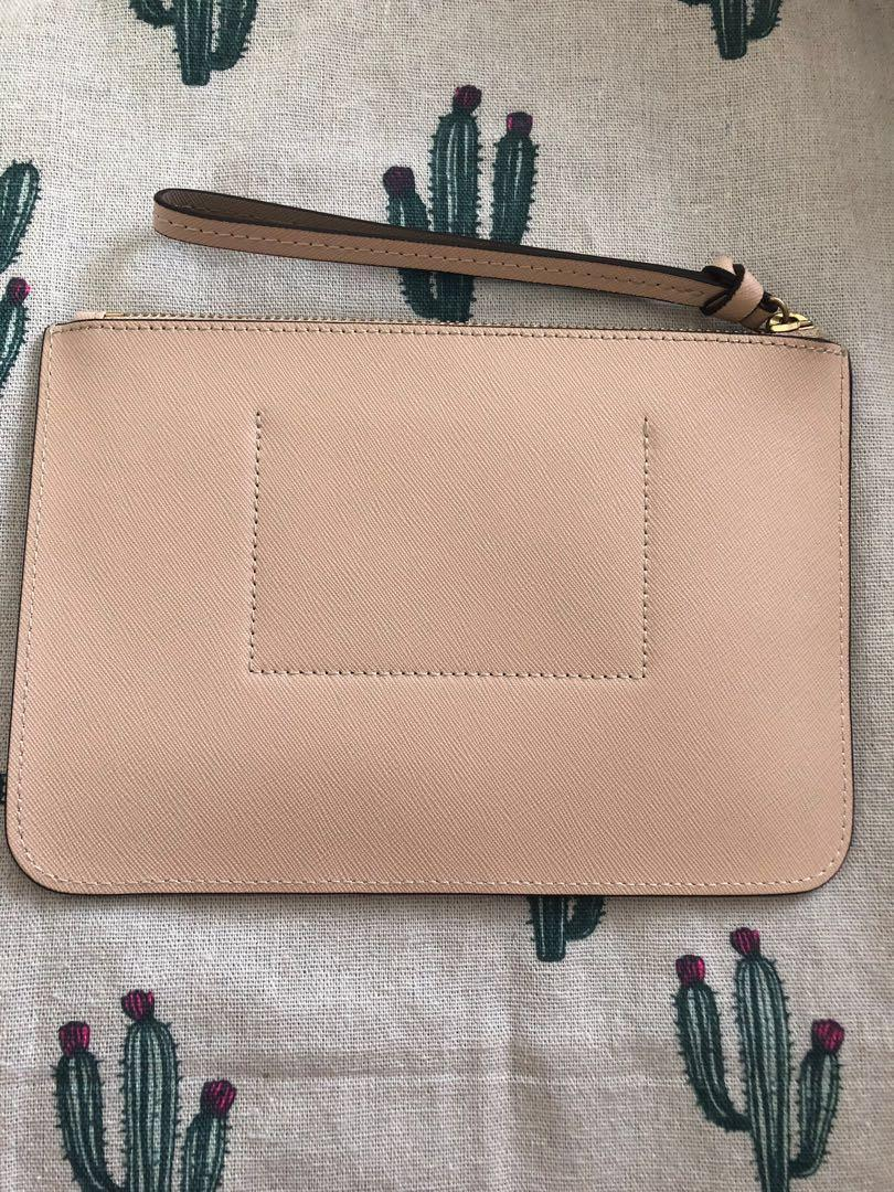 Mimco Baby Pink Medium Wristlet Pouch