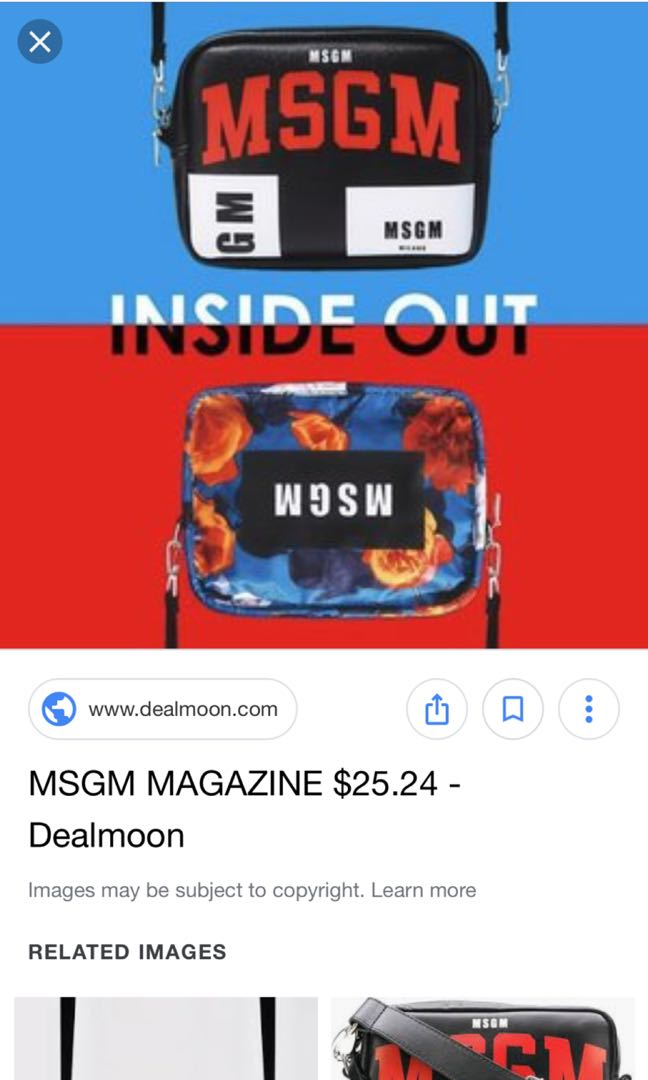 7e413383757a MSGM Magzine Bag (two sided), Women's Fashion, Bags & Wallets ...