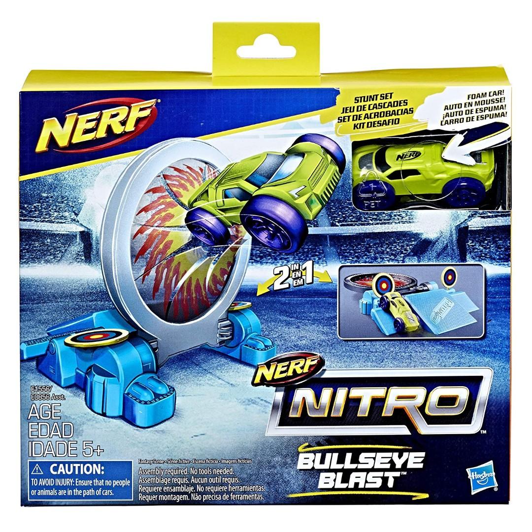 BRAND NEW //SEALED ✔ BLUE RED ORANGE NERF NITRO FOAM CAR 3 PACK by HASBRO