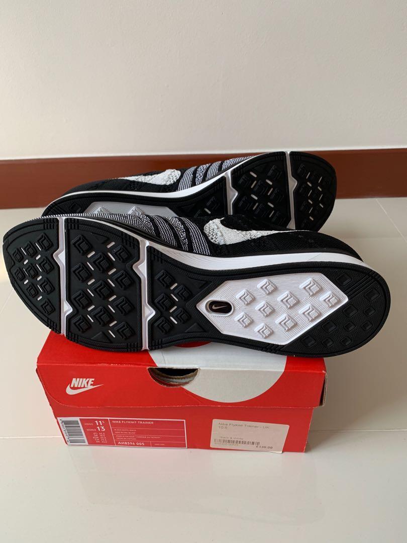 on sale 5fc83 5e0e7 Nike Flyknit Trainers Black White, Men s Fashion, Footwear, Sneakers on  Carousell