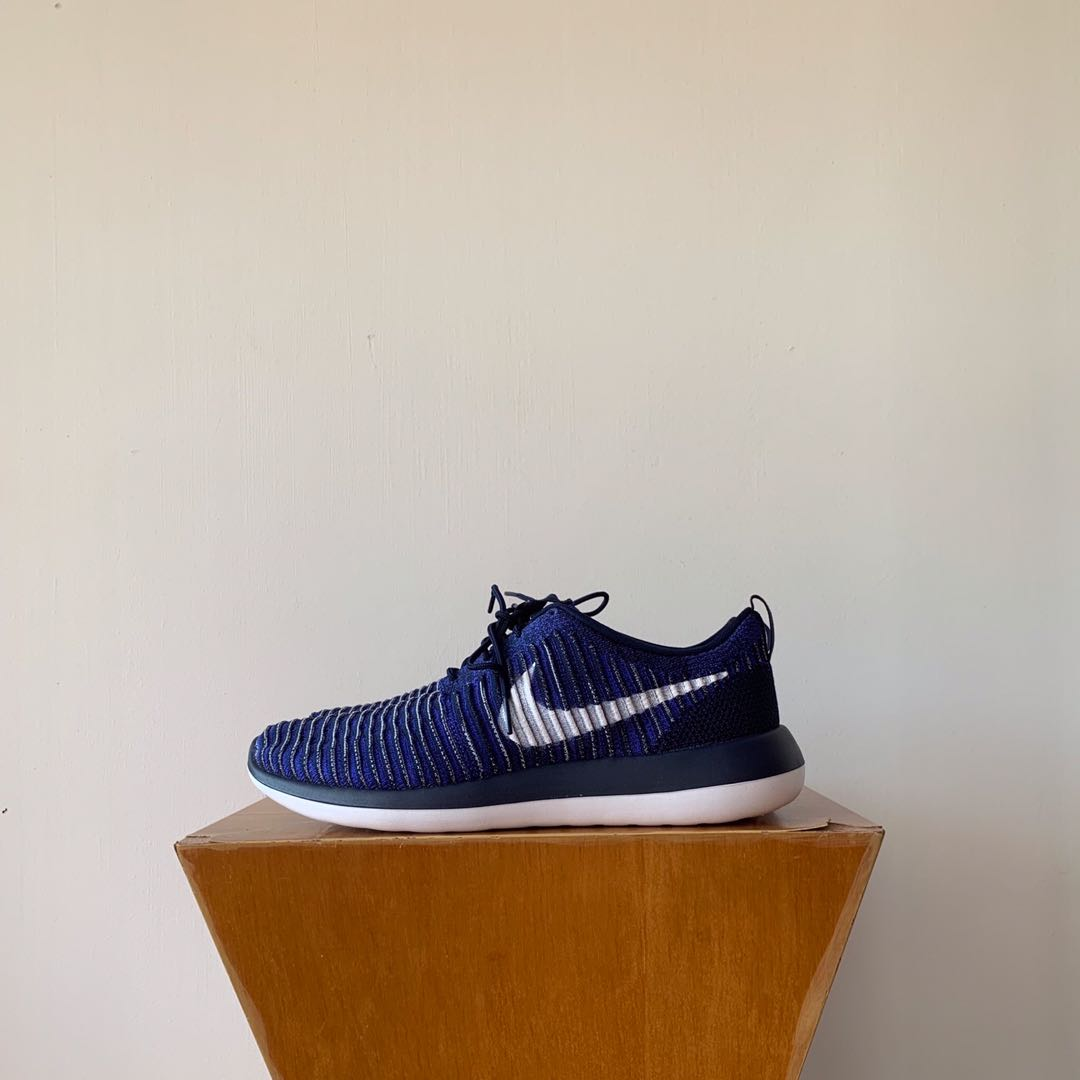 6c0b770d265d Nike Roshe Two Flyknit Trainers in Blue US11