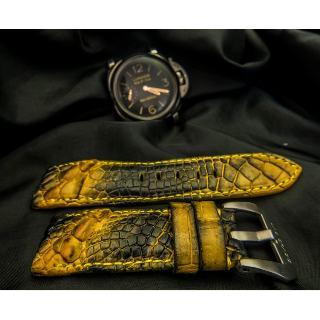 250e06655 Panerai watch strap Alligator / Crocodile leather, Panerai watch ...