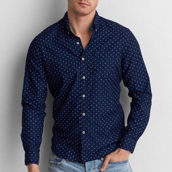 69caf2dc PL American Eagles Buttoned Up Shirt, Men's Fashion, Clothes, Tops ...