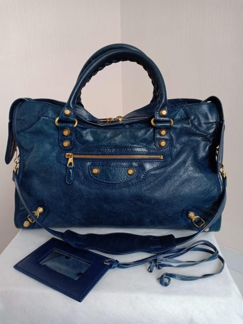 Preloved Authentic Balenciaga City Navy GHW with Mirror only (38x24cm)