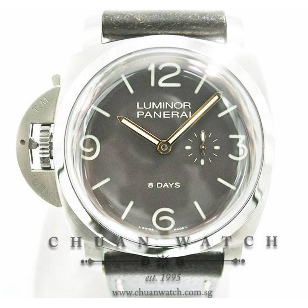Pre-Owned Panerai Luminor 1950 8-Days Titanio Destro 47mm Pam 368 N  (Limited Edition of 1000 Pieces Only)