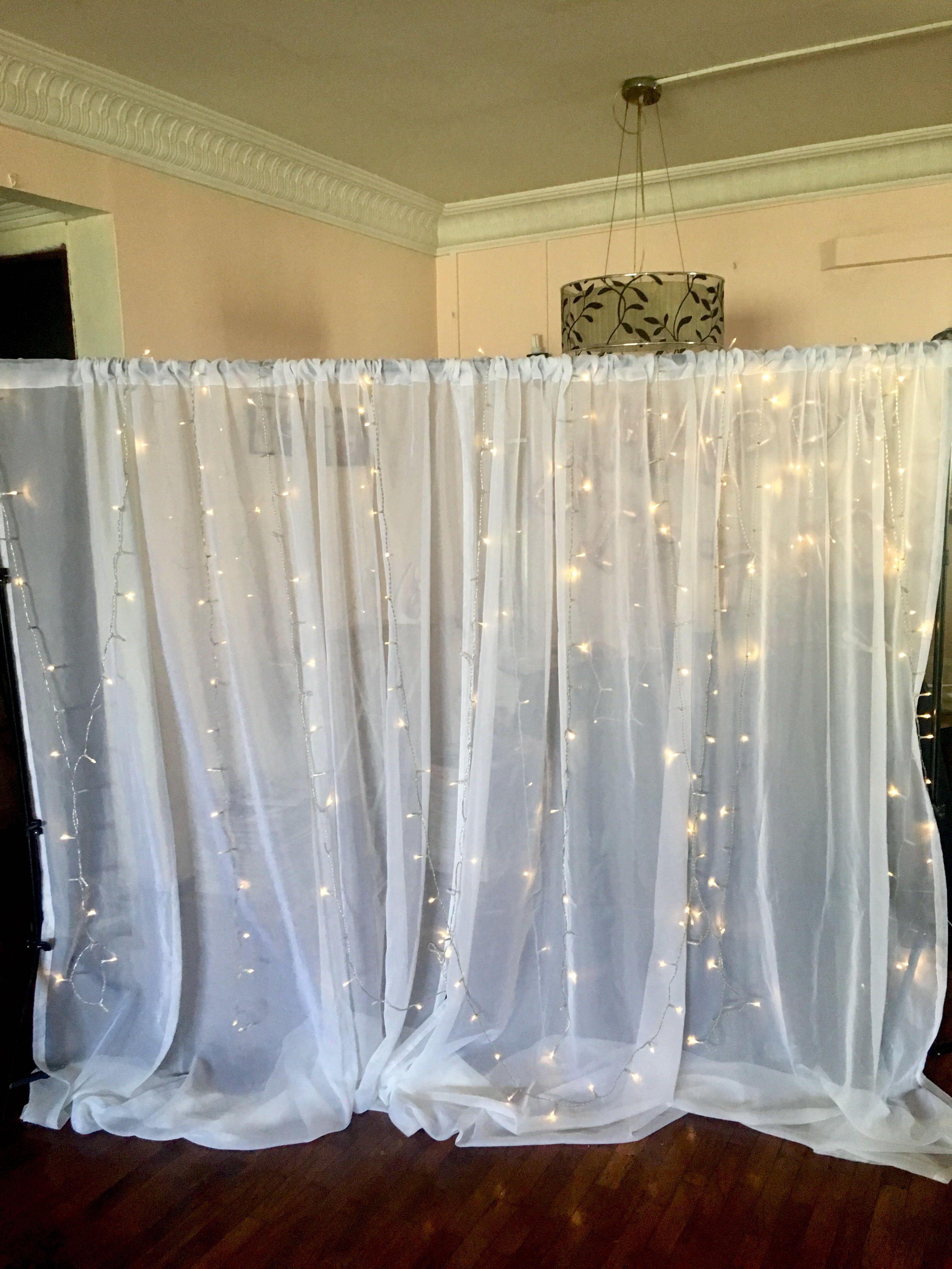 Rental Backdrop With Semi Sheer Curtains Design Craft Others On Carousell