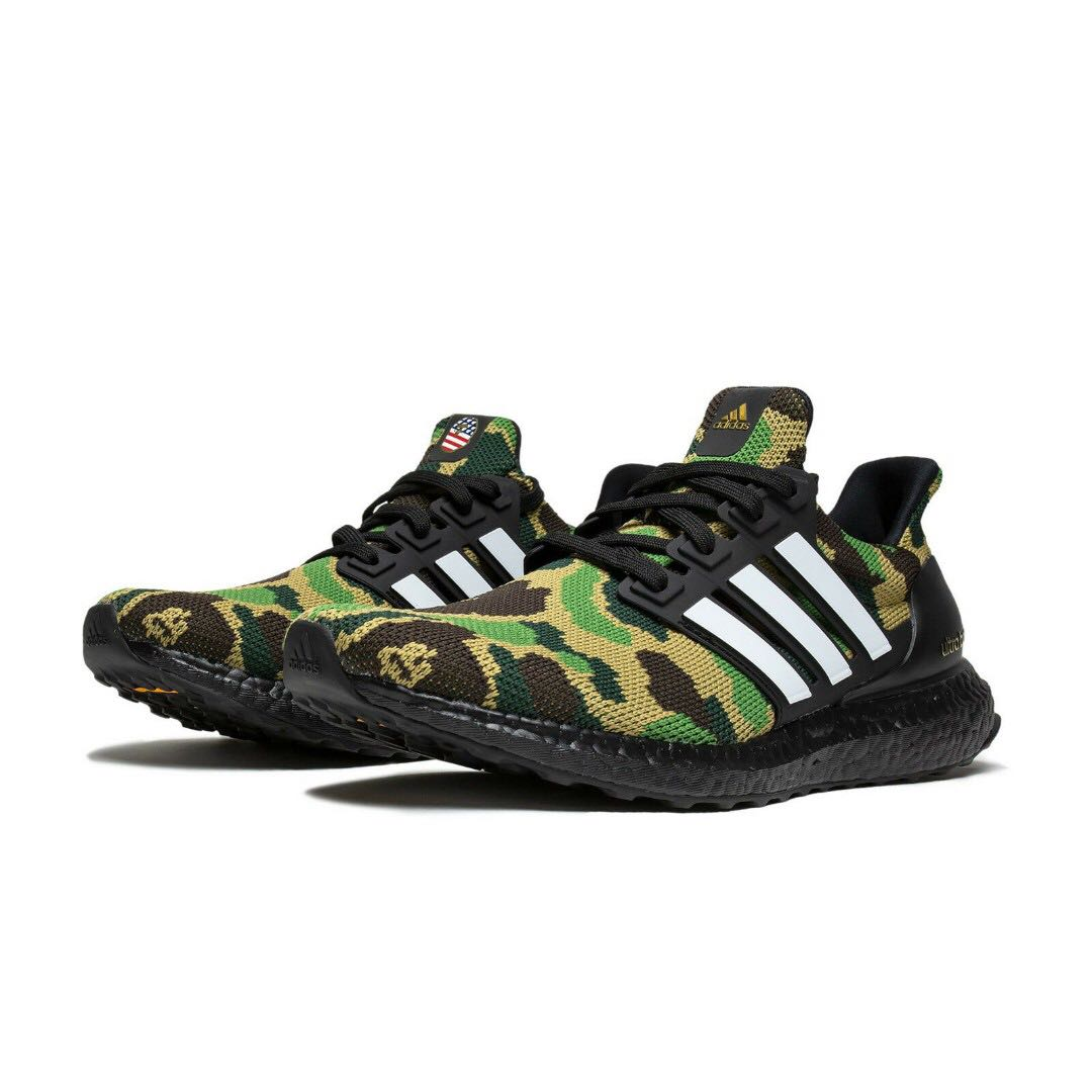893e9521e68d9 US9 Adidas Ultra Boost x BAPE (GREEN)