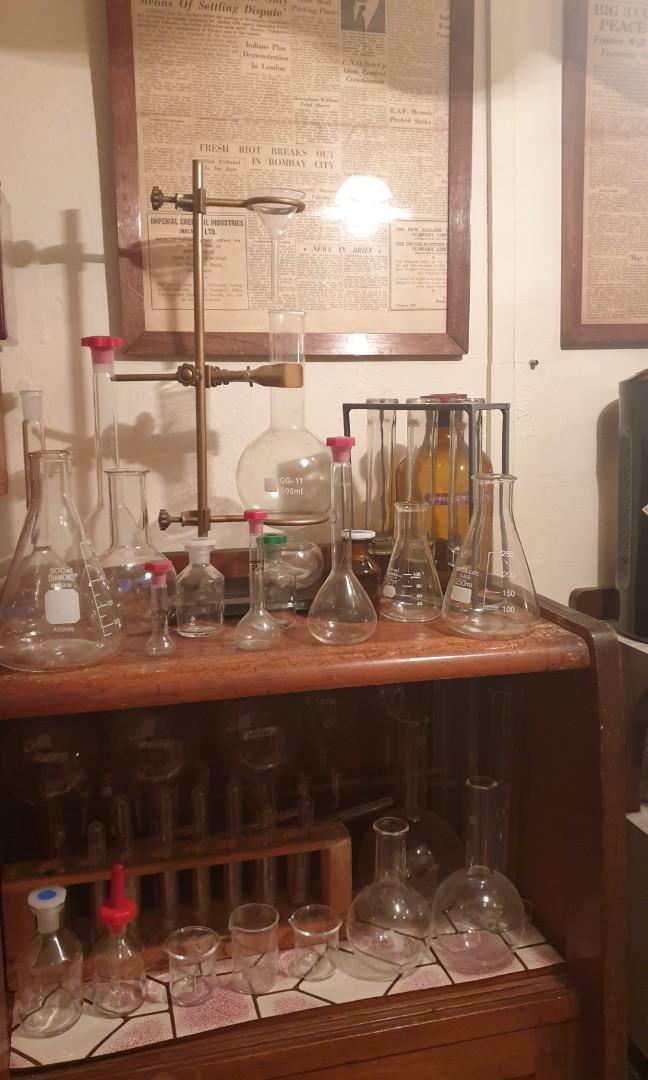 Vintage props antique lab apparatus