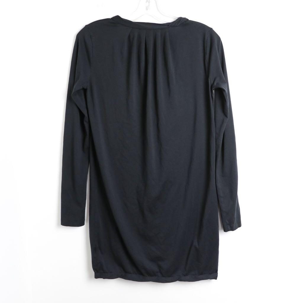 Wilfred Aritzia long black puma cotton ruffle cardigan S small
