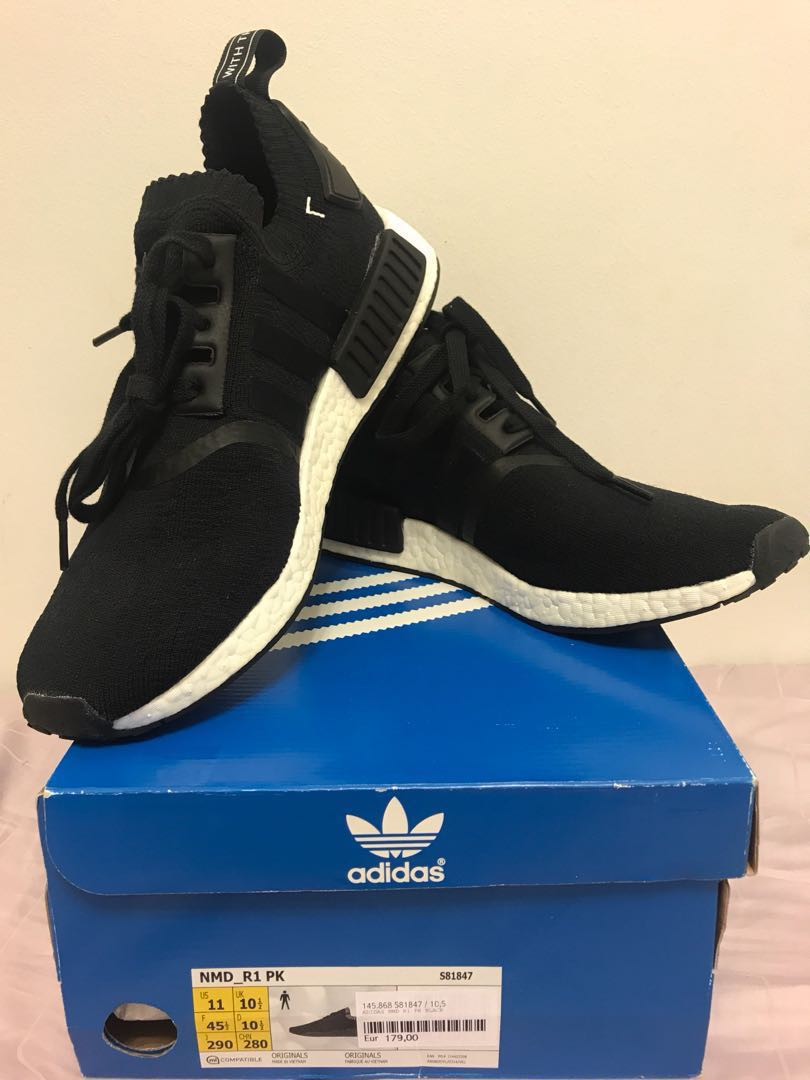 849c82e4ad5b0 WTS BNDS Adidas Originals NMD R1 Primeknit Pk Japan Black City Pack US11  UK10.5
