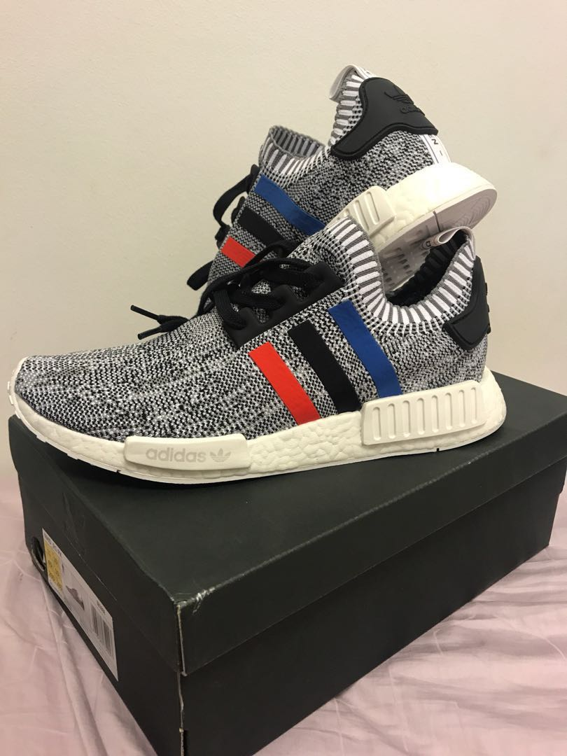 buy popular 46a63 02942 WTS BNDS Adidas Originals NMD R1 Primeknit Pk Tricolor white/grey Glitch  US11 UK10.5