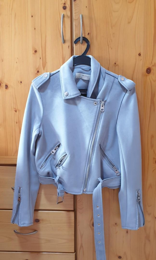 Zara Suede Cropped Jacket