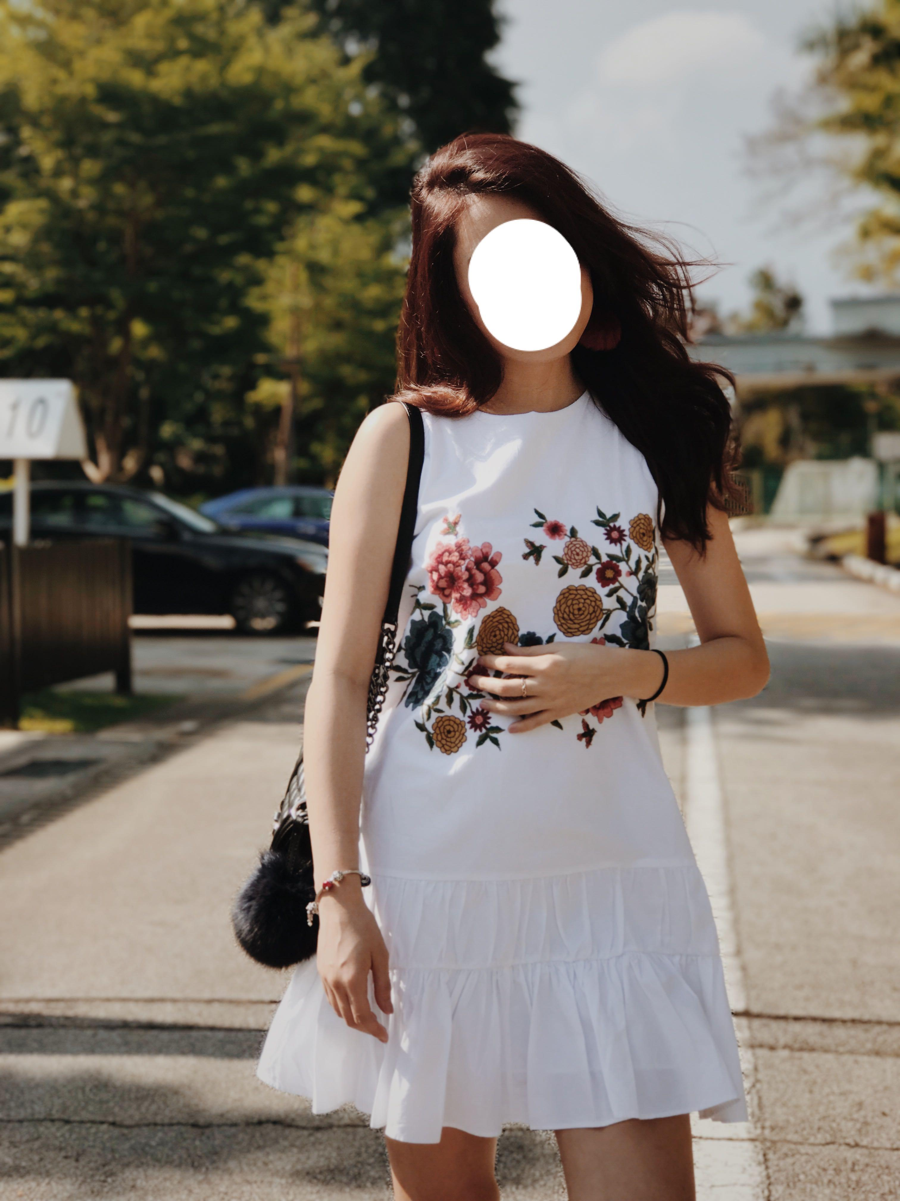 cd07e13835 ZARA white floral embroidered dress, Women's Fashion, Clothes ...